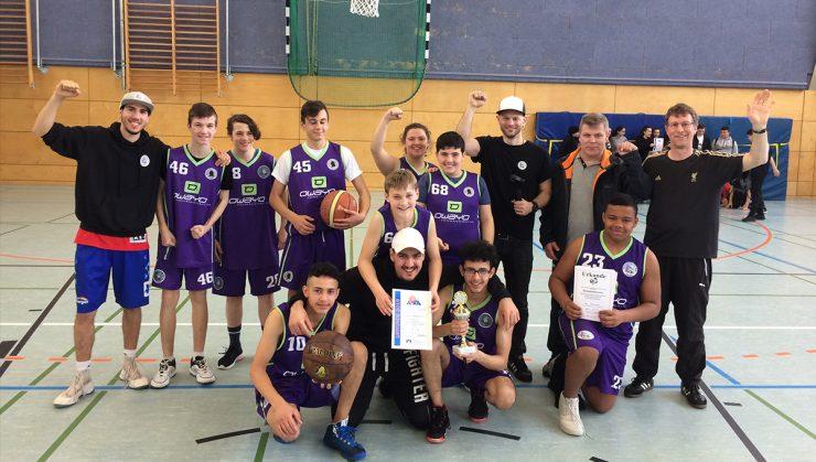 Foto: Siegerfoto der Goethe Giants, Basketball