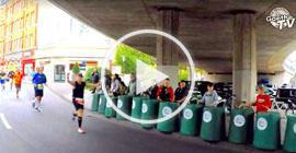 Foto: Goethe-Realschule.plus beim Trash Drumming auf Koblenz Marathon 2019